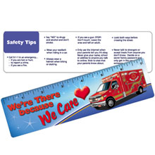 Laminated Safety Ruler, We're There Because We Care, Stock- Closeout, On Sale!