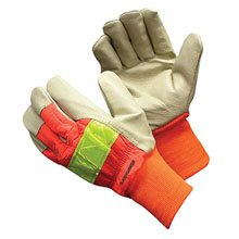 Hi-Viz Pigskin Glove with Knit Wrists
