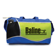 "Limited Edition Lime/Royal Cross Sport Duffel, 17"" - Closeout, On Sale!"