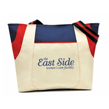 Limited Edition Navy/Red Double Pocket Trio Tote - Closeout, On Sale!
