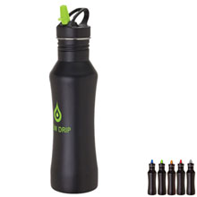 Midnight Stainless Steel Bottle, 24oz.,BPA Free - Free Set Up Charges!