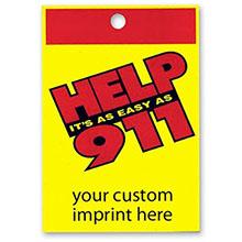 Help It's As Easy As 911 Custom Litterbag