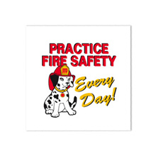 Practice Fire Safety Every Day Temporary Tattoo, Stock