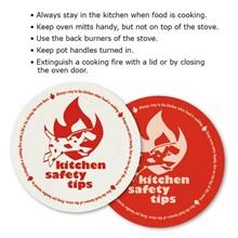 Kitchen Safety Tips Round Jar Gripper, Stock
