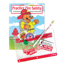 Fire Safety Classroom Kit with Coloring Book, Stock