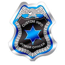 Junior Police Officer Foil Sticker Badge, Custom