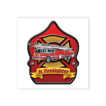 Jr. Firefighter Fire Truck Temporary Tattoo, Stock