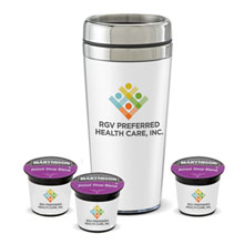 Wake Up Kit Tumbler and Coffee Pods Set w/ Full Color Imprint