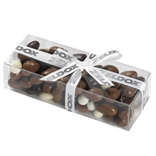 Classic Present Gift Box with Chocolate Covered Bridge Mix