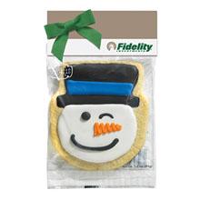 Snowman Cookie in a Header Bag