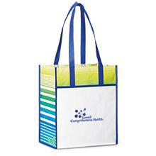 Boca Laminated Non-Woven Shopper, Royal Blue Pattern