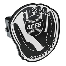 Baseball Glove Trailer Hitch Cover