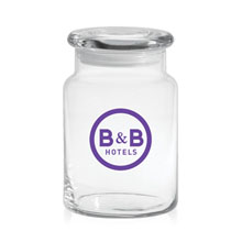 Apothecary Jar with Flat Lid, 26 oz.