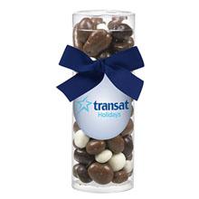 Elegant Small Gift Tube w/ Chocolate Covered Bridge Mix