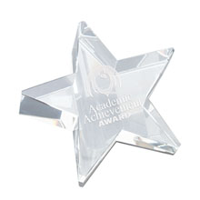 Crystal Rising Star Paperweight