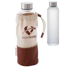 Alternative® Glass Bottle with Pouch, 18oz.
