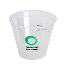 Biodegradable Clear Plastic Cup, 9oz.