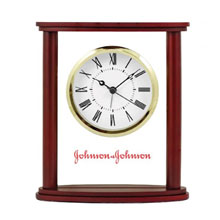 Columbia Wood & Glass Desk Clock