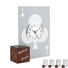 Casino Desk Clock