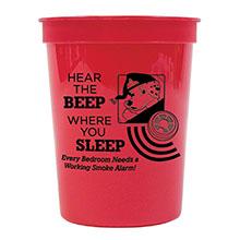 Hear the Beep Where You Sleep Stadium Cup 17oz., Stock - Closeout!