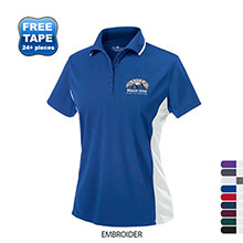 Charles River® Color Blocked Piqué Ladies' Wicking Polo