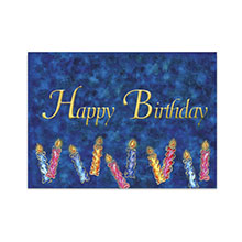 Happy Birthday Blue Candles Greeting Card