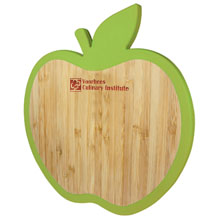 Apple Bamboo Silicone Edge Mini Cutting Board