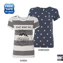 Alternative® Eco-Jersey Ideal Ladies' Stars & Stripes Tee