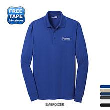 CornerStone® Select Snag-Proof Long Sleeve Men's Performance Polo