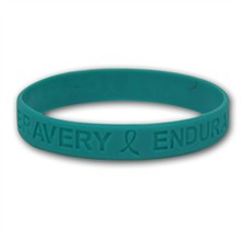 Teal Wristbands - Hope, Courage, Stock