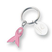 Awareness Pink Ribbon Keychain