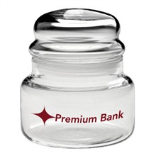 Apothecary Jar  with Dome Lid, 8oz.