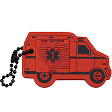 Ambulance Foam Floating Key Tag