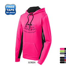 Sport-Tek® Sport-Wick® Colorblock Ladies' Performance Kanga Hoodie