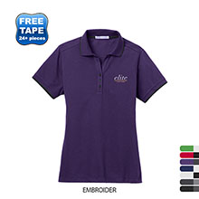 Port Authority® Rapid Dry™ Tipped Ladies' Performance Polo