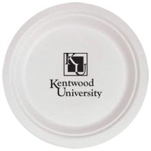 Biodegradable Round Paper Plate, 7""
