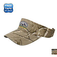 Camo Brushed Cotton Twill Visor