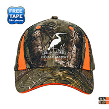 Camo Brushed Cotton Twill Structured Cap with Blaze Inserts