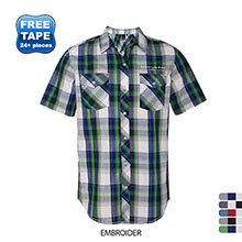 Burnside® Plaid Men's Short Sleeve Shirt