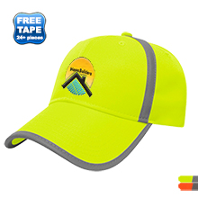 High Visibility Polyester Structured Safety Cap