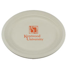 Biodegradable Round Paper Plate, 12-1/2""