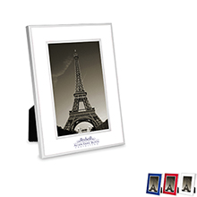 "Chrome Border Picture Frame, 4"" x 6"""
