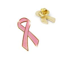 Pink Ribbon Lapel Pin, Stock
