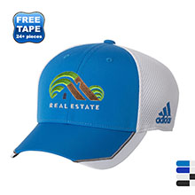 adidas® Tour Mesh Structured Performance Fitted Cap with Mesh Back
