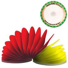 """Circle Slinky® 50-Sheet Adhesive Note Pad, 3"""""""