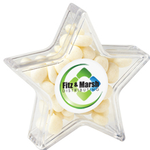 Star Candy Container with White Mints