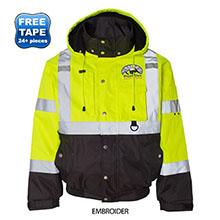 ML Kishigo®  Hi-Vis Safety Ripstop Fleece Lined Men's Bomber Jacket