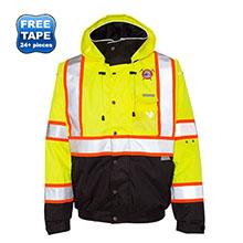 ML Kishigo® Hi-Viz Safety Brilliant Series Bomber Jacket