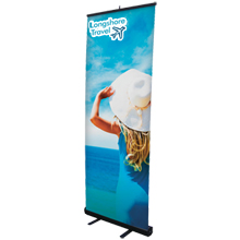 "Economy Retractor Banner Display Kit, 31-1/2"""