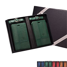 Armstrong Duo-Textured Luggage Tags Gift Set